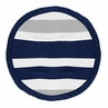 Stripe Boy Baby Playmat Tummy Time Infant Play Mat by Sweet Jojo Designs - Navy Blue, Grey and White