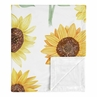 Sunflower Baby Girl Receiving Security Swaddle Blanket for Newborn or Toddler Nursery Car Seat Stroller Soft Minky by Sweet Jojo Designs - Yellow, Green and White Farmhouse Watercolor Flower