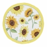 Sunflower Girl Baby Playmat Tummy Time Infant Play Mat by Sweet Jojo Designs - Yellow Green and White Farmhouse Watercolor Flower
