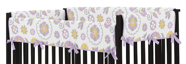 Suzanna Baby Crib Long Rail Guard Cover By Sweet Jojo Designs Only 10 81
