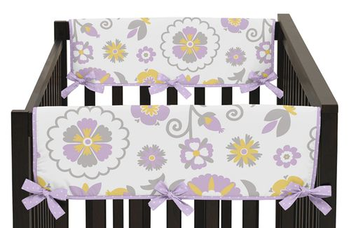 Suzanna Baby Crib Side Rail Guard Covers by Sweet Jojo Designs - Set of 2 - Click to enlarge