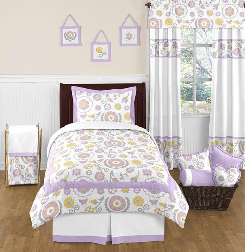 Suzanna Childrens and Kids Bedding - 4pc Twin Set by Sweet Jojo Designs - Click to enlarge