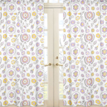 Suzanna Floral Print Window Treatment Panels by Sweet Jojo Designs - Set of 2