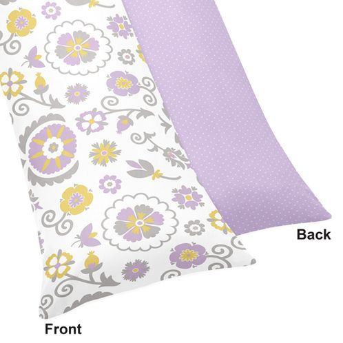 Suzanna Full Length Double Zippered Body Pillow Case Cover by Sweet Jojo Designs - Click to enlarge