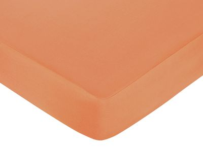 Sweet Jojo Designs Surf Fitted Crib Sheet for Baby/Toddler Bedding Sets - Solid Orange - Click to enlarge