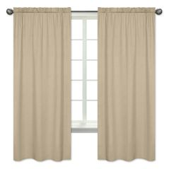 Taupe Window Treatment Panels by Sweet Jojo Designs - Set of 2