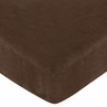 Teddy Bear Fitted Crib Sheet for Baby and Toddler Bedding Sets by Sweet Jojo Designs - Chocolate Microsuede