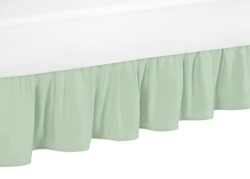 Toddler Bed Skirt for Gold, Mint, Coral and White Ava Kids Bedding Set - Click to enlarge