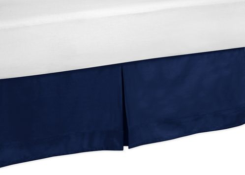 Toddler Bed Skirt for Navy Blue and Lime Green Stripe Kids Childrens Bedding Sets - Click to enlarge