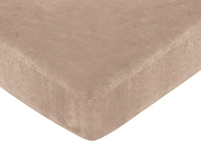 Treasure Cove Fitted Crib Sheet for Baby and Toddler Bedding Sets by Sweet Jojo Designs - Camel Microsuede - Click to enlarge