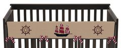 Treasure Cove Pirate Baby Crib Long Rail Guard Cover by Sweet Jojo Designs