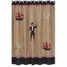 Treasure Cove Pirate Kids Bathroom Fabric Bath Shower Curtain