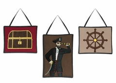 Treasure Cove Pirate Wall Hanging Accessories by Sweet Jojo Designs