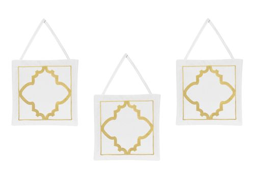 Trellis Wall Hanging Accessories for Gold, Mint, Coral and White Ava Collection - Click to enlarge