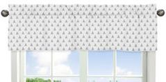 Triangle Print Window Valance for Earth and Sky Collection by Sweet Jojo Designs