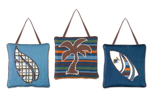 Tropical Hawaiian Wall Hanging Accessories for Sweet Jojo Designs Surf Bedding - Click to enlarge