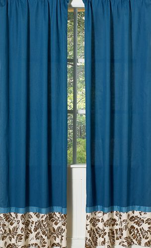 Tropical Hawaiian Window Treatment Panels for Surf Bedding - Set of 2 - Click to enlarge