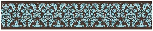 Turquoise and Brown Bella Baby and Kids Wall Border by Sweet Jojo Designs - Click to enlarge