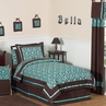 Turquoise and Brown Bella Children's & Teen Bedding - 4 pc Twin Set