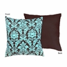 Turquoise and Brown Bella Decorative Accent Throw Pillow by Sweet Jojo Designs