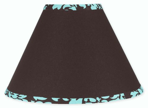 Turquoise and Brown Bella Lamp Shade by Sweet Jojo Designs - Click to enlarge