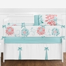 Turquoise and Coral Emma Baby Bedding - 9pc Crib Set by Sweet Jojo Designs