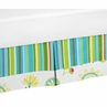 Turquoise and Lime Layla Bed Skirt for Toddler Bedding Sets by Sweet Jojo Designs