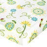 Turquoise and Lime Layla Fitted Crib Sheet for Baby/Toddler Bedding Sets - Floral Print