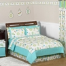 Turquoise and Lime Layla Girls Kids & Teen Bedding - 3pc Full / Queen Set