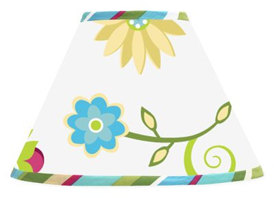 Turquoise and Lime Layla Lamp Shade by Sweet Jojo Designs - Click to enlarge