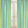Turquoise and Lime Layla Stripe Window Treatment Panels - Set of 2