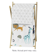 Turquoise and Navy Blue Safari Animal Baby Kid Clothes Laundry Hamper for Mod Jungle Collection by Sweet Jojo Designs