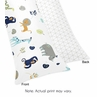 Turquoise and Navy Blue Safari Animal Body Pillow Case Cover for Mod Jungle Collection by Sweet Jojo Designs (Pillow Not Included)