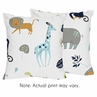 Turquoise and Navy Blue Safari Animal Decorative Accent Throw Pillows for Mod Jungle Collection by Sweet Jojo Designs - Set of 2