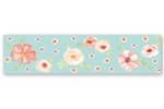 Turquoise and Peach Wallpaper Wall Border for Watercolor Floral Collection by Sweet Jojo Designs - Pink Rose Flower