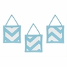 Turquoise and White Chevron Wall Hanging Accessories by Sweet Jojo Designs