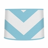 Turquoise and White Chevron ZigZag Lamp Shade by Sweet Jojo Designs