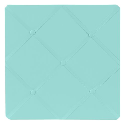 Turquoise Blue Fabric Memory/Memo Photo Bulletin Board - Click to enlarge
