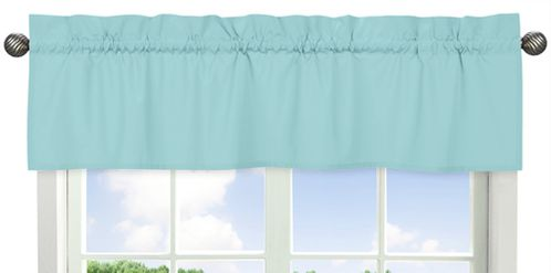 Turquoise Blue Window Valance by Sweet Jojo Designs - Click to enlarge
