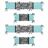 Turquoise Funky Zebra Collection Crib Bumper by Sweet Jojo Designs