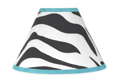 Turquoise Funky Zebra Lamp Shade by Sweet Jojo Designs - Click to enlarge