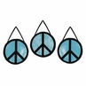 Turquoise Groovy Peace Sign Tie Dye Wall Hanging Accessories by Sweet Jojo Designs