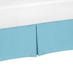 Turquoise King Bed Skirt for Turquoise and White Chevron Bedding Sets by Sweet Jojo Designs