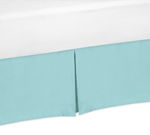 Turquoise Queen Bed Skirt for Emma Bedding Sets