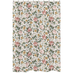 Vintage Floral Boho Bathroom Fabric Bath Shower Curtain by Sweet Jojo Designs - Blush Pink, Yellow, Green and White Shabby Chic Rose Flower Farmhouse