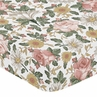 Vintage Floral Boho Girl Fitted Crib Sheet Baby or Toddler Bed Nursery by Sweet Jojo Designs - Blush Pink, Yellow, Green and White Shabby Chic Rose Flower Farmhouse