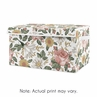 Vintage Floral Boho Girl Small Fabric Toy Bin Storage Box Chest For Baby Nursery or Kids Room by Sweet Jojo Designs - Blush Pink, Yellow and Green Shabby Chic Rose Flower Farmhouse