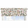 Vintage Floral Boho Window Treatment Valance by Sweet Jojo Designs - Blush Pink, Yellow and Green Shabby Chic Rose Flower Farmhouse Tiered Ruffles Ruffled