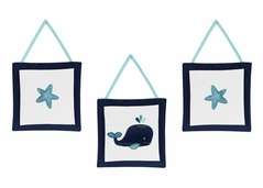 Wall Hanging Accessories for Blue Whale Collection by Sweet Jojo Designs