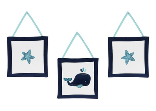 Wall Hanging Accessories for Blue Whale Collection by Sweet Jojo Designs - Click to enlarge